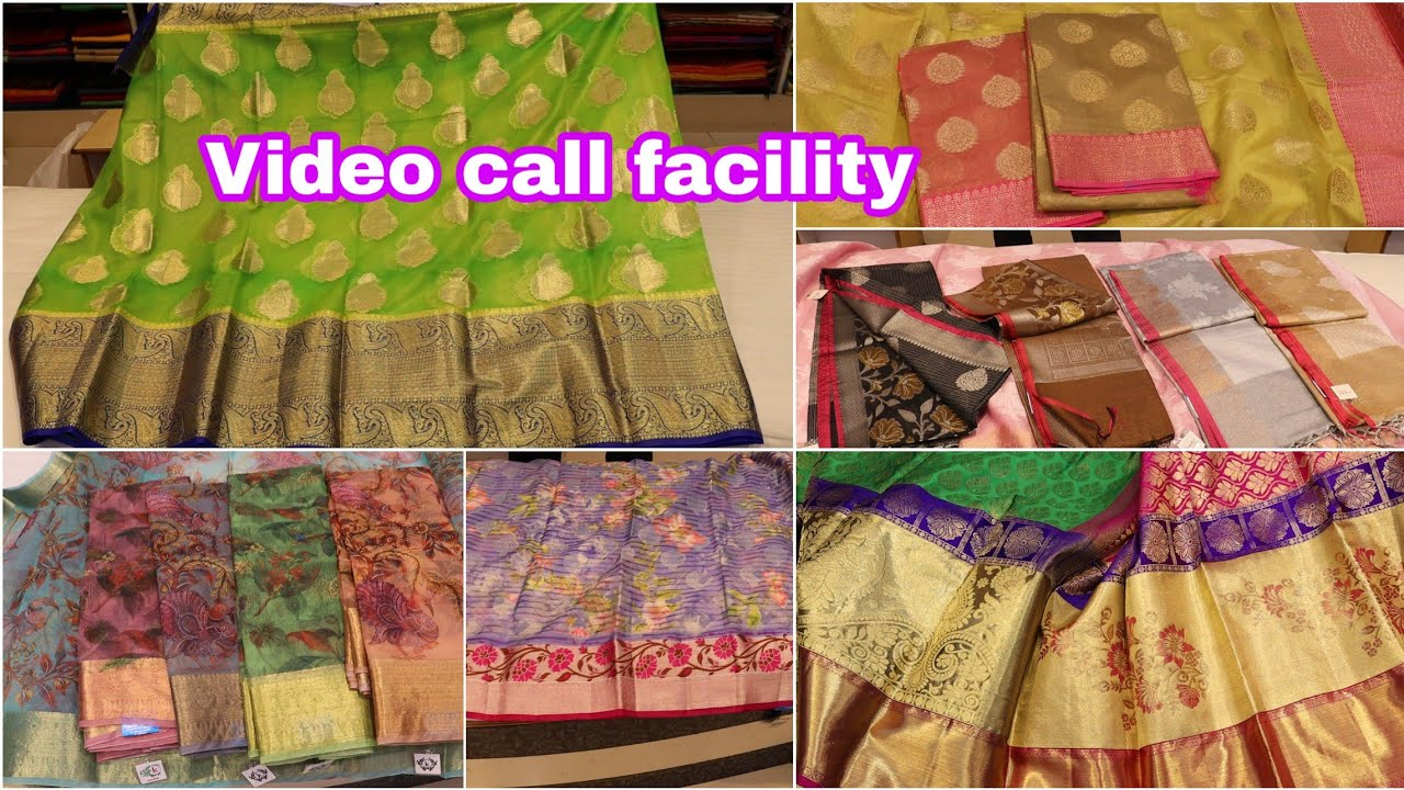 Video call facility latest sarees colection wit prices|Lightweight sarees for all occasions|Kaladhar