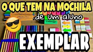 MATERIAL ESCOLAR DE UM ALUNO EXEMPLAR