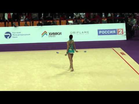 Саломе Пацхава, булавы, Salome Pazhava (Georgia), clubs, Grand Prix, 2014, Moscow