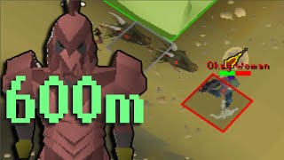 This PVP HCIM has a 3rd Age Axe Bounty (600,000,000 gp)