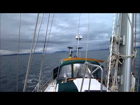 Winter Sail from Bellingham to Seattle on a Tayana 37