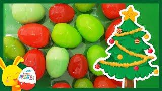 Compétition des couleurs - Oeufs surprises de Noël avec le père Noël - Touni Toys