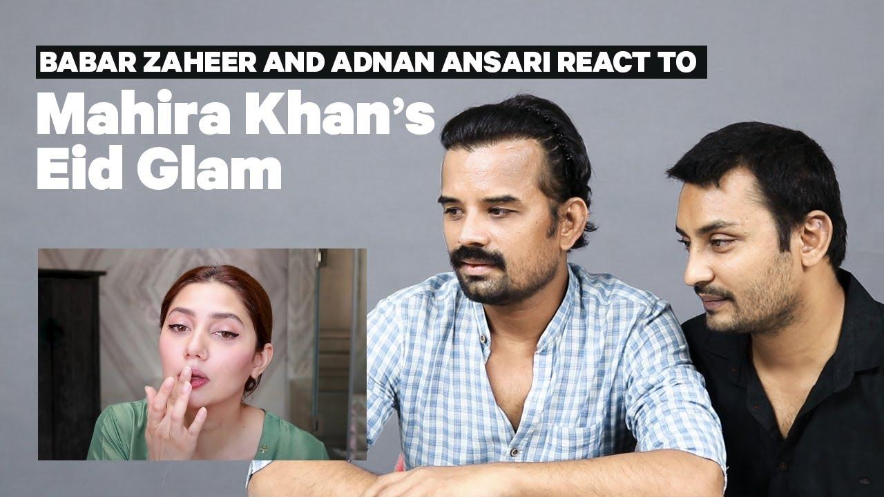 Mahira Khan's Makeup Artists React To Her Eid Glam Tutorial | Mashion | Babar Zaheer | Adnan Ansari