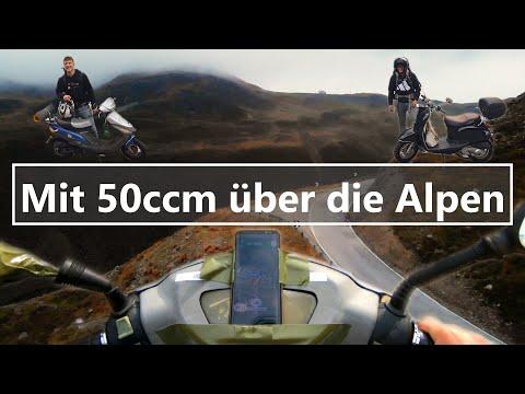 500 km Roller über die Alpen | 50 ccm | München-Venedig | Reisedoku