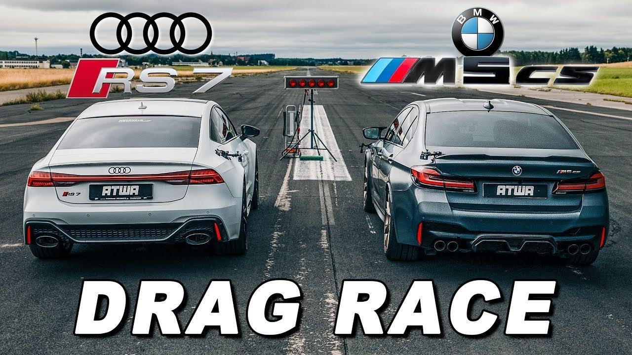 BMW M5 CS vs. Audi RS7   DRAG RACE   Daniel Abt
