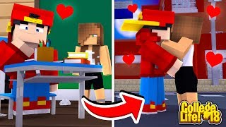 Minecraft College Life - ROPO FALLS FOR A TEACHER BUT ITS AGAINST COLLEGE RULES!!