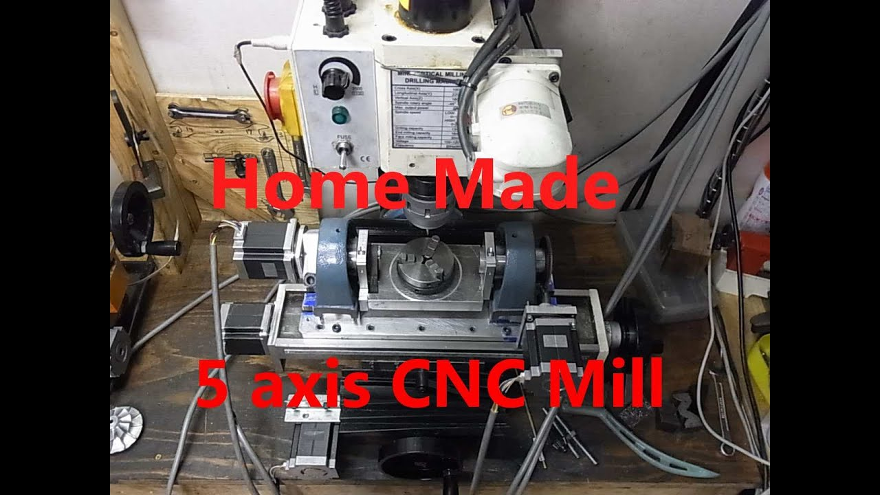 Home Made 5axis Cnc Mill Doovi