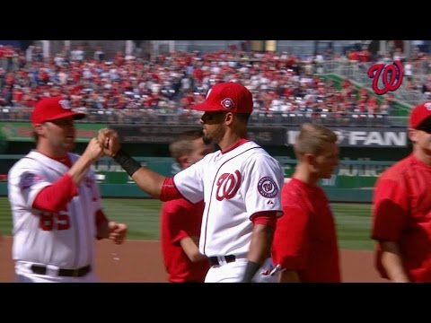 NYM@WSH: Nationals starters introduced on Opening Day