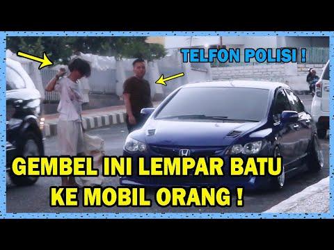 PRANK GEMBEL INI LEMPAR MOBIL ORANG NYAMPE PECAH ! PRANK TER GOKIL BANGET | BANG ABDI TV