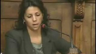 La regidora Francina Vila intervenint al Plenari