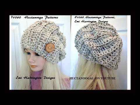 Free Crochet Pattern Beginner Unisex Slouchy Hat Adult Size