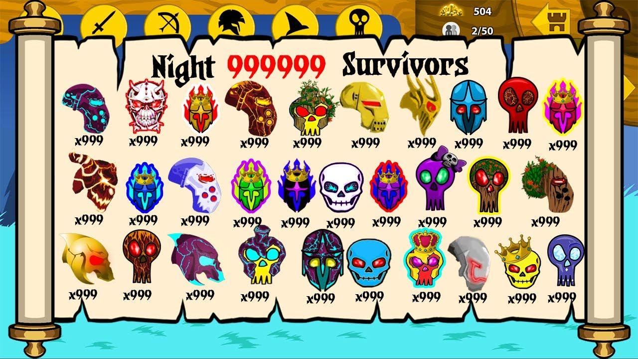 Night 99999 Surviors Unlock Full x999 Army Items - Stick War Legacy Huge Update Part #123