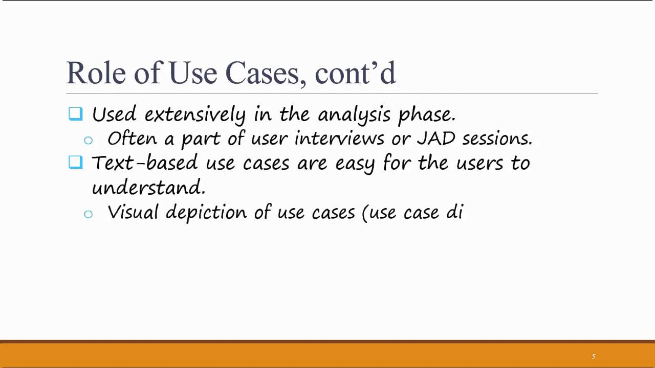 Systems Analysis Design Ch 4 What Is A Use Case Youtube