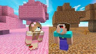МИР ДЕВУШКИ против МИРА НУБА В Майнкрафте! Minecraft Мультики Майнкрафт троллинг Нуб и Про