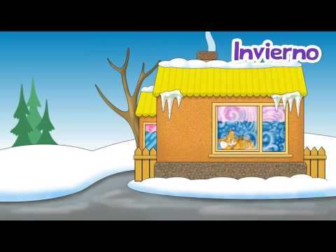 Las estaciones - The Seasons of the Year Spanish weather song for children