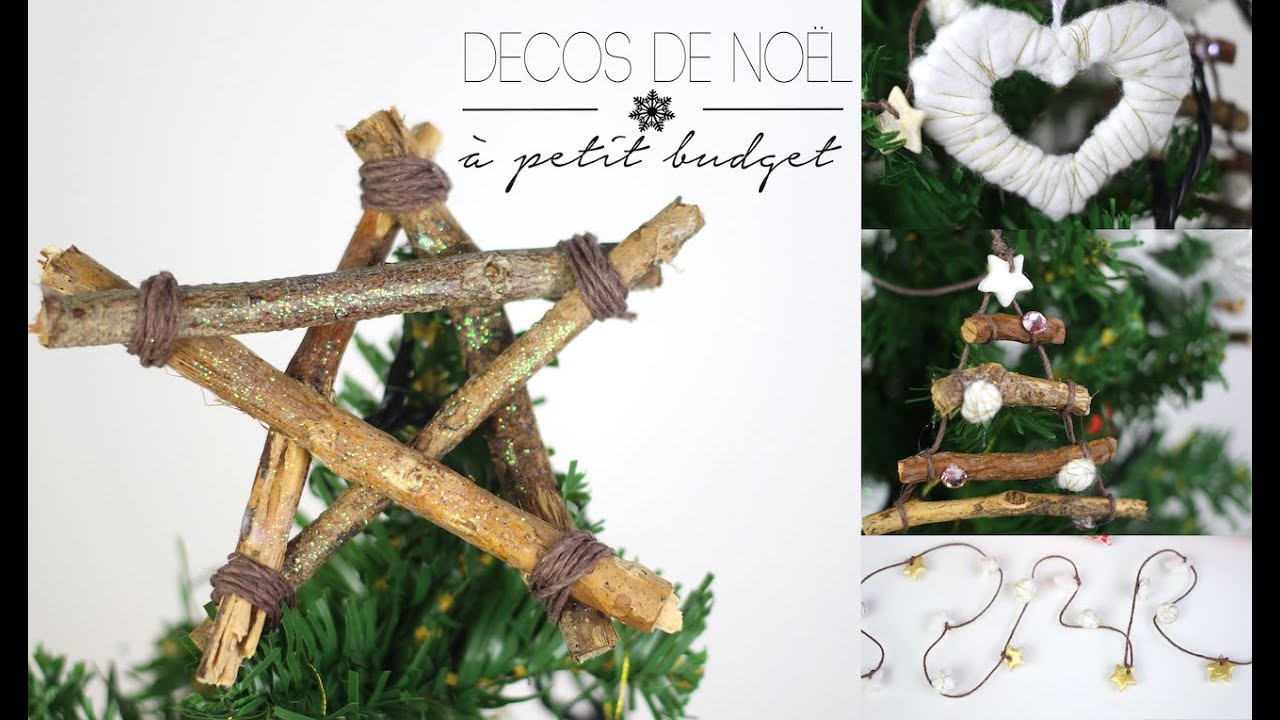 diy tuto 5 decos de noel petit budget a faire soi meme cheap christmas deco english subs. Black Bedroom Furniture Sets. Home Design Ideas