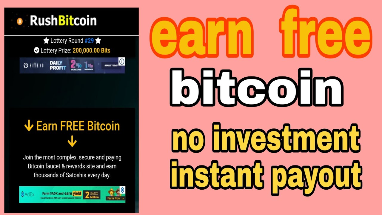 free bitcoin robet instant payout