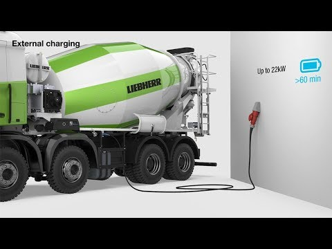 Liebherr - Truck mixer with electric drum drive