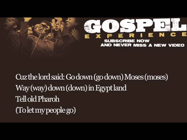 Louis Armstrong - Go Down Moses (Lyrics)