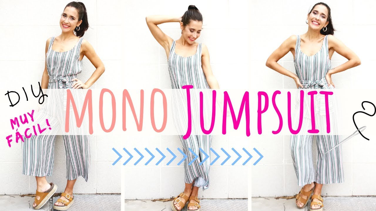 Tutorial de costura MONO o JUMPSUIT DIY, fácil y sin patrones! - YouTube