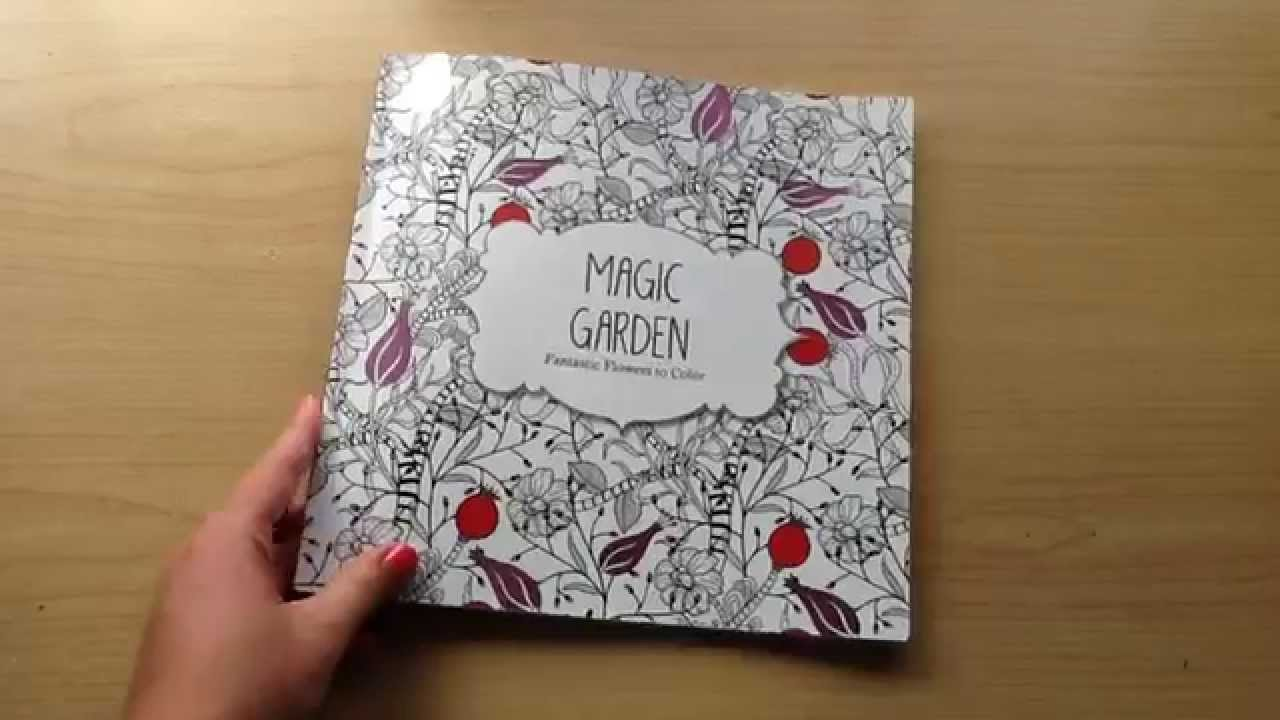 Magic Garden Adult Colouring Book Share