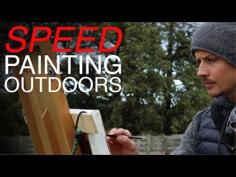 Speed Painting Outdoors   En Plein Air - Improving Brushwork and Colour Mixing