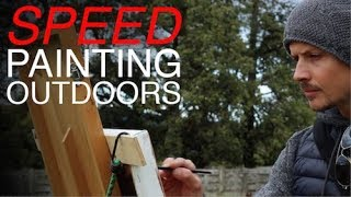 Speed Painting Outdoors | En Plein Air - Improving Brushwork and Colour Mixing