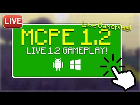 🔴LIVE MCPE 1.2 GAMEPLAY - Minecraft Pocket Edition 1.2 BETA BUILD 1 First Experience