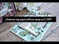 How to use a word building stamp set from Stampin Up with Jenny Hall