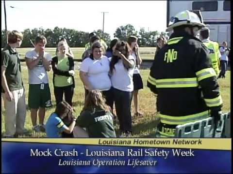 Louisiana Operation Lifesaver Mock Train Crash