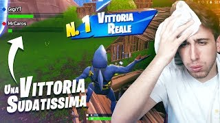 A REAL IMPOSSIBILE VITTORY! Sweaty... Fortnite Battle Royale ITA!
