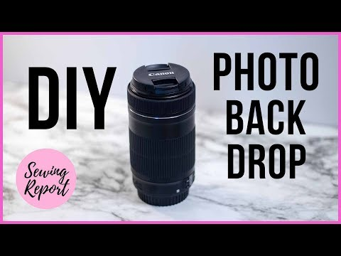 EASY DIY PROJECT 📸 Simple Photo Backdrop | SEWING REPORT
