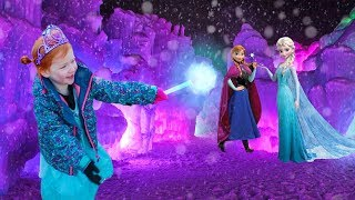 Ultimate HIDE N SEEK at ICE CASTLES with Anna and Elsa!! (FROZEN 2)