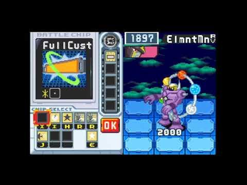 Megaman Battle Network 6 Gregar (JP version) - Link Navi Run: Elecman