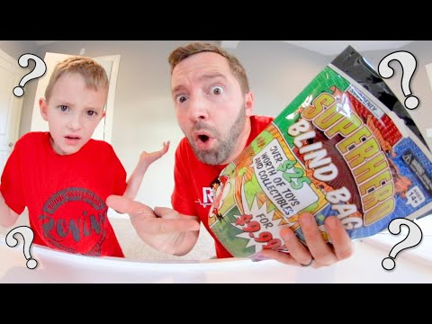 Father & Son WEIRDEST MYSTERY TOY EVER! / Blind Toy Bag
