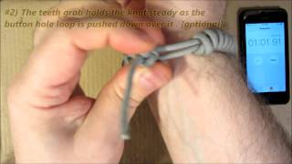 1-Min. Paracord Survival Bracelet SPEED DEMO
