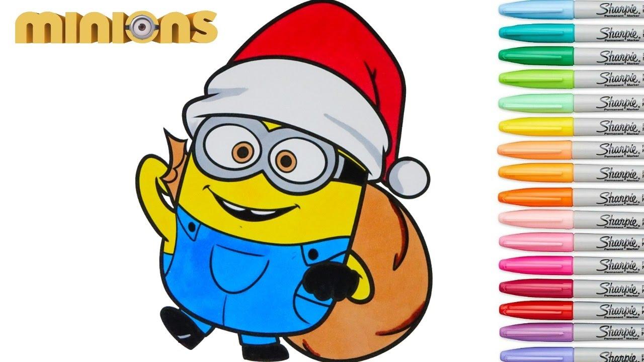 Minions Coloring Book Christmas Episode Rainbow Splash ...