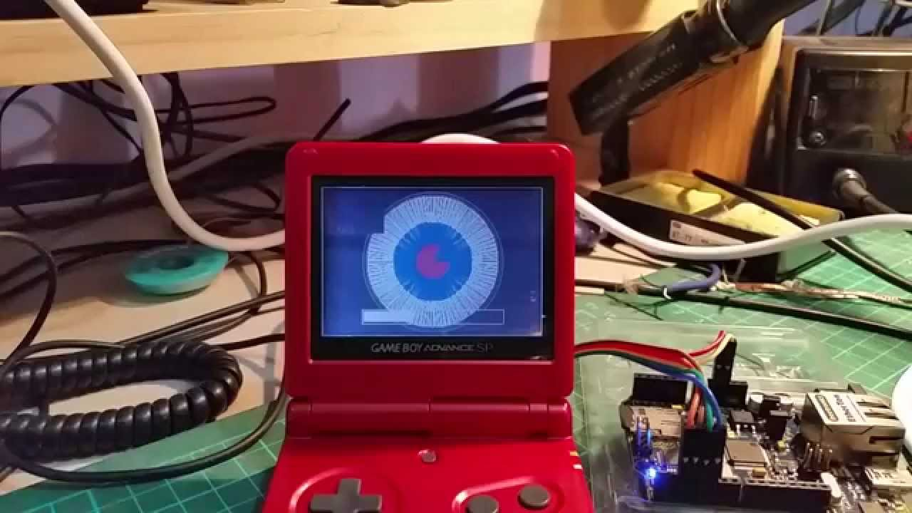 Arduino using gameboy advance as a lcd via link port youtube