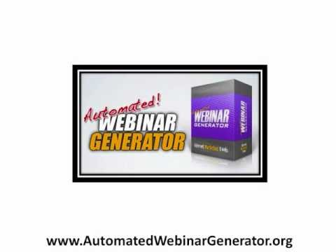 Automated Webinar Generator Software - Plays Where You Want It