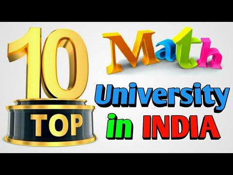 Top 10 Mathematics Universities In India | Top Universities to Be The Best In Mathematics 2018