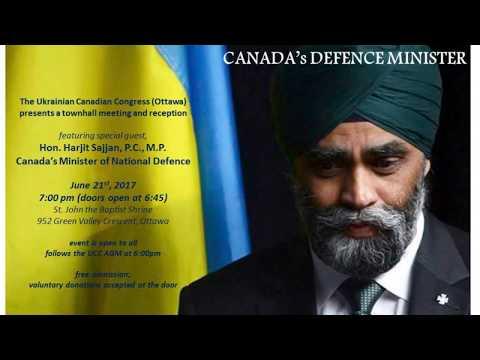 Defence Minister Sajjan Speaks at UCC Ottawa June 21 2017