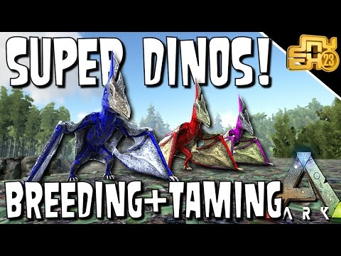 ARK GUIDE TO TAMING AND BREEDING SUPER DINOS for PvP!