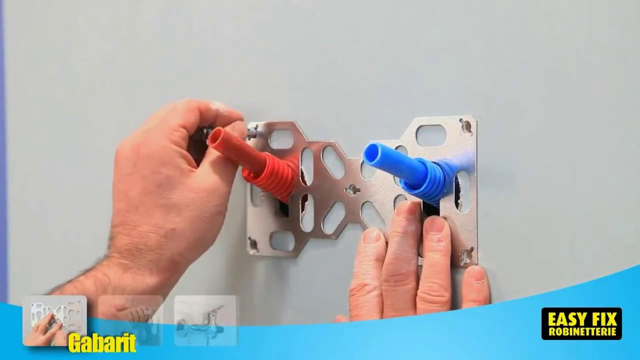 installez sa robinetterie murale avec une platine de fixation per quickplomberie