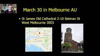 Spring 2019 Events, Southern California and Melbourne Australia