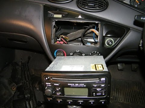 ford focus car stereo removal youtube. Black Bedroom Furniture Sets. Home Design Ideas