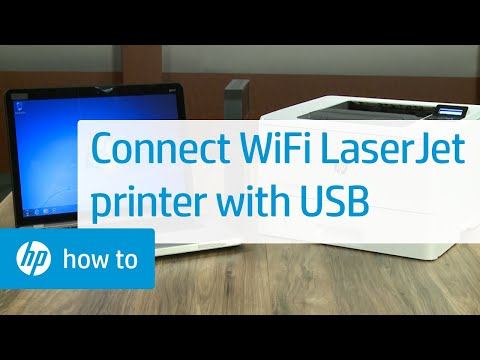 Connecting And Installing A Wireless HP LaserJet Pro Printer With A USB Cable | HP LaserJet | HP