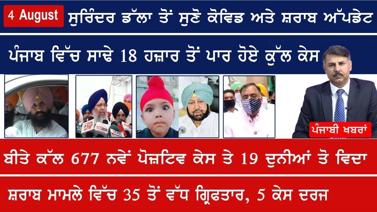 Punjabi News 4 August 2020   E9 Punjabi News today   Surinder Dalla Latest News, 677 New Case Punjab