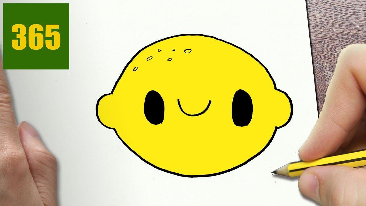 Limoni Disegno: COME DISEGNARE LIMONE Kawaii Passo Dopo Passo