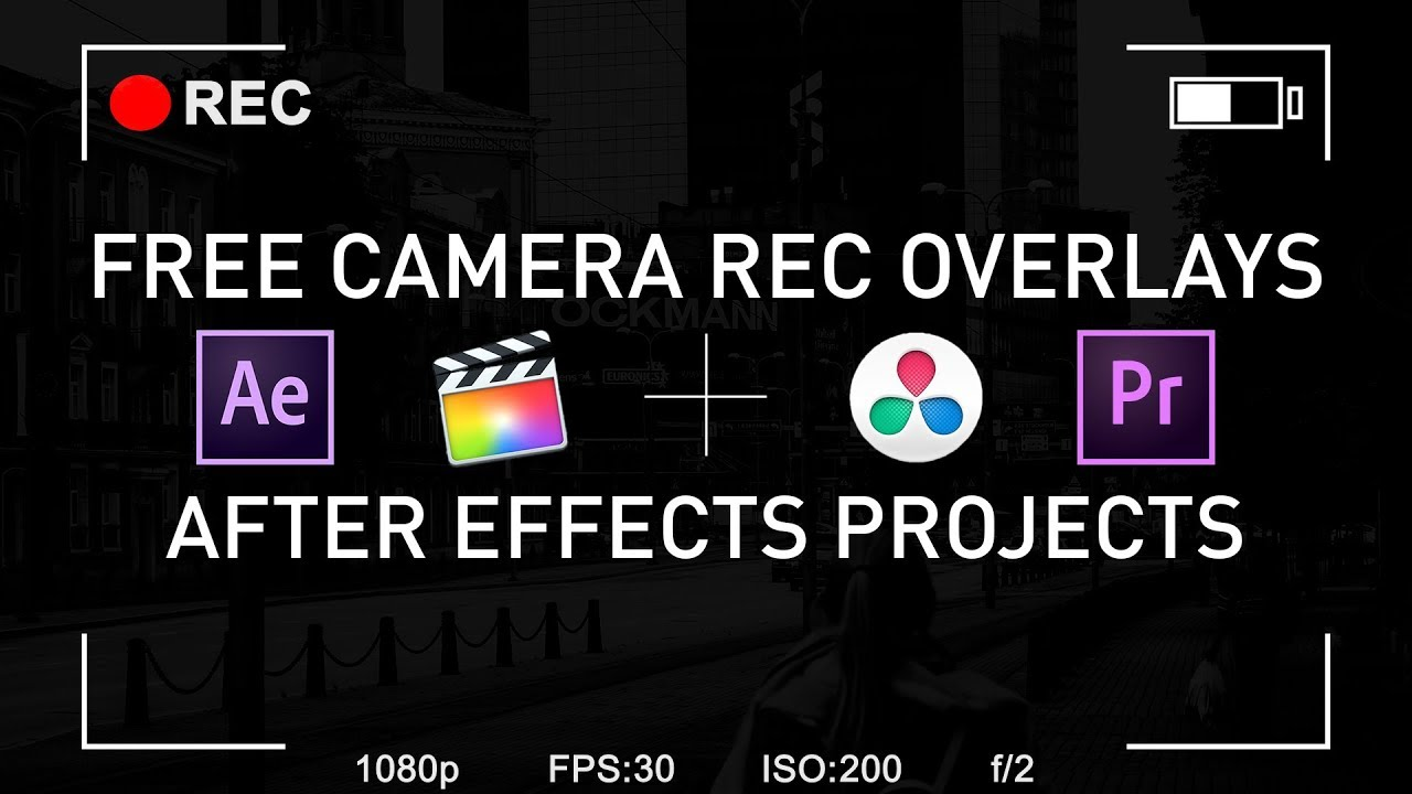 5 4K FREE Camera Rec Pack + After Effects Projects