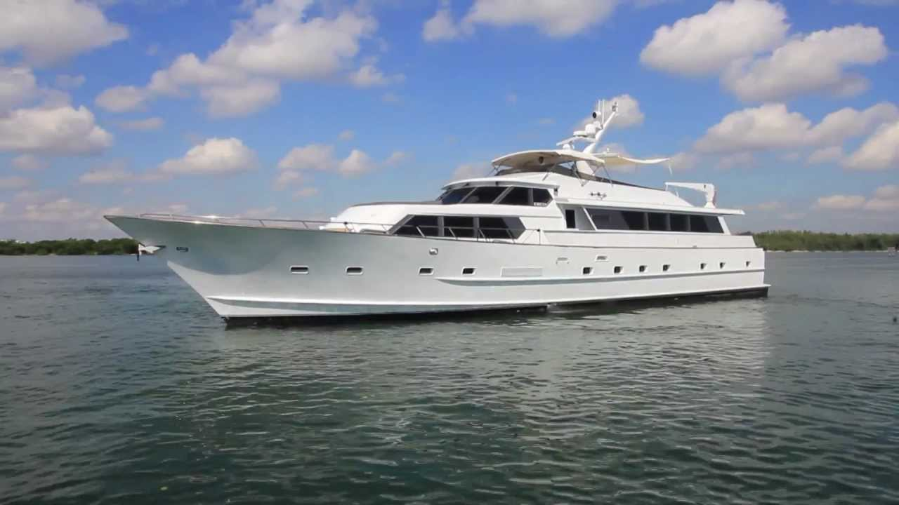 Broward raised pilothouse motor yacht youtube for Broward motor vehicle registration